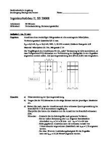 Ingenieurholzbau II, SS 20008