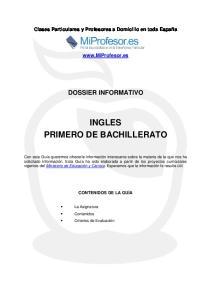 INGLES PRIMERO DE BACHILLERATO