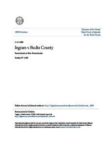 Ingram v. Bucks County