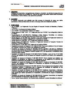 INGRESO Y CIRCULACION DE VEHICULOS DE CARGA