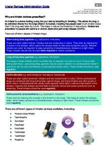 Inhaler Devices Administration Guide