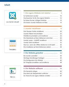Inhalt. 1 Die eigene Website mit Joomla! Joomla! installieren Die Website gestalten Die Website aufbauen
