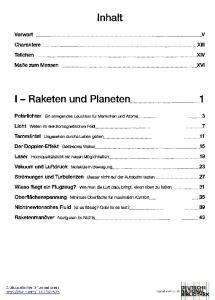 Inhalt. I - Raketen und Planeten 1