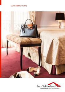 INHALT. Jahresbericht Hotellerie Bern+ Mittelland