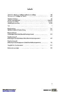 Inhalt. Vorwort zu Band 1, 6. Auflage und Band 2,5. Auflage Vorwort zur 1. Auflage von Band 2