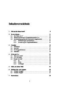 Inhaltsverzeichnis. 1 Wie lese ich dieses Buch? 9