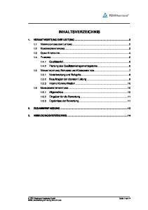 INHALTSVERZEICHNIS 2. ZUSAMMENFASSUNG ABBILDUNGSVERZEICHNIS...14