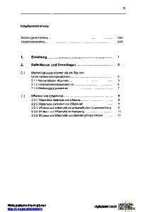 Inhaltsverzeichnis. Abbildungsverzeichnis Tabellenverzeichnis. 1. Einleitung Definitionen und Grundlagen 3