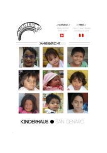 Inhaltsverzeichnis ARCO IRIS PERU Kinderhaus San Genaro ARCO IRIS PERU ARCO IRIS PERU