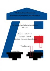 Inhaltsverzeichnis... II. Abbildungsverzeichnis... III. Tabellenverzeichnis... IV. 1. Einleitung und Zielsetzung Konzentration