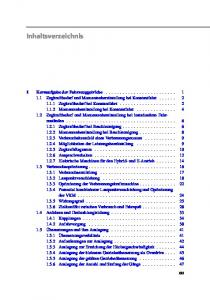 Inhaltsverzeichnis XIII