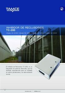 INHIBIDOR DE RECLUSORIOS TC-200