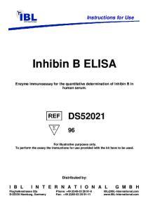 Inhibin B ELISA. Enzyme immunoassay for the quantitative determination of Inhibin B in human serum