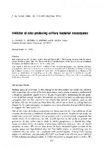 Inhibitor of odor-producing axillary bacterial exoenzymes