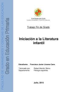 Iniciación a la Literatura infantil