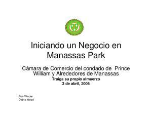 Iniciando un Negocio en Manassas Park