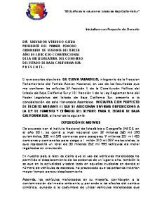 Iniciativa con Proyecto de Decreto