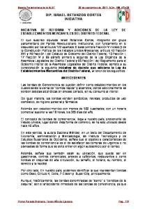 INICIATIVA DE REFORMA Y ADICIONES DE LA LEY DE ESTABLECIMIENTOS MERCANTILES DEL DISTRITO FEDERAL