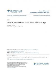 Initial Conditions for a Post-flood Rapid Ice Age