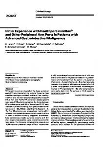 Initial Experience with Healthport minimax and Other Peripheral Arm Ports in Patients with Advanced Gastrointestinal Malignancy