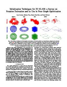 Initialization Techniques for 3D SLAM: a Survey on Rotation Estimation and its Use in Pose Graph Optimization