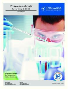 INITIATING COVERAGE: Divi s Laboratories Jubilant Life Sciences. Manoj Garg