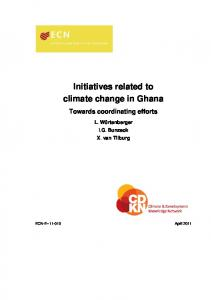Initiatives related to climate change in Ghana