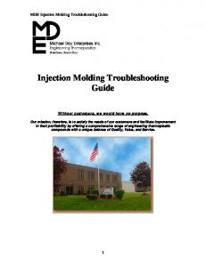Injection Molding Troubleshooting Guide