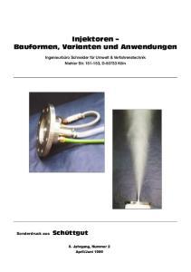 Injektoren Bauformen, Varianten und Anwendungen
