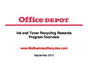 Ink and Toner Recycling Rewards Program Overview
