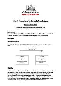 Inkart Championship Rules & Regulations
