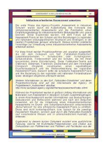 Inklusionsorientiertes Assessment umsetzen