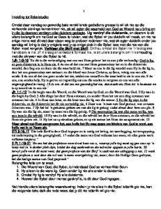 Inleiding tot Bybelstudie: