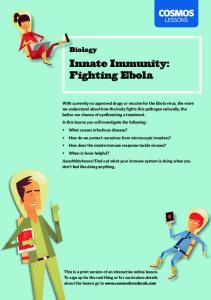 Innate Immunity: Fighting Ebola