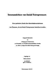 Innenansichten von Social Entrepreneurs