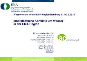 Innerstaatliche Konflikte um Wasser in der EMA-Region