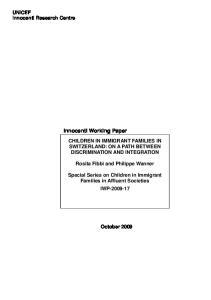 Innocenti Working Paper