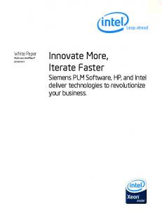 Innovate More, Iterate Faster