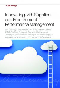 Innovating with Suppliers and Procurement Performance Management