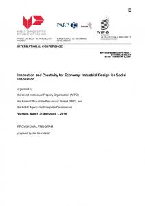 Innovation and Creativity for Economy: Industrial Design for Social Innovation