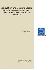 Innovation and Venture Capital