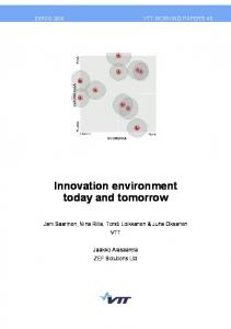Innovation environment today and tomorrow