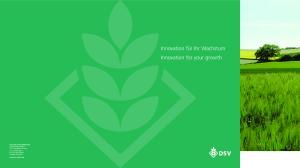 Innovation für Ihr Wachstum Innovation for your growth