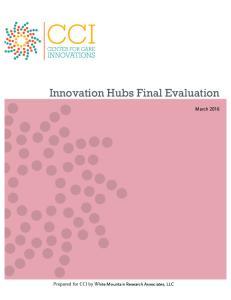 Innovation Hubs Final Evaluation