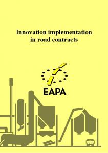 Innovation implementation in road contracts
