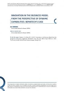 INNOVATION IN THE BUSINESS MODEL FROM THE PERSPECTIVE OF DYNAMIC CAPABILITIES: BEMATECH S CASE