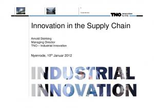 Innovation in the Supply Chain