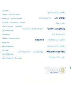 innovation meets illumination LED Lighting Sources Specification Book
