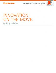 INNOVATION ON THE MOVE. Mobility Redefined