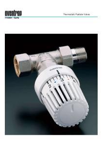 Innovation + Quality. Thermostatic Radiator Valves